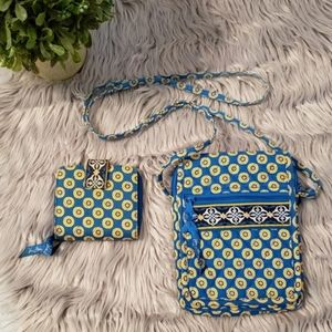 Vera Bradley Crossbody and wallet set